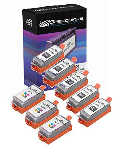 Speedy Inks - 8 Pack Compatible Canon PGI35 CLI36 Set 5 Black 3 Color