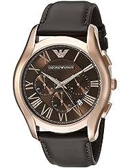 Emporio Armani Mens AR1701 Dress Brown Leather Watch