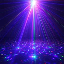 SUNY Decorative Gobo Projector RGB Stage Laser Light Red Green Blue LED Stage Lighting Use For DJ Disco Show Party Laser Z12R-RGB300