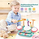 CUTE STONE 5 in 1 Musical Instruments Toys,Kids