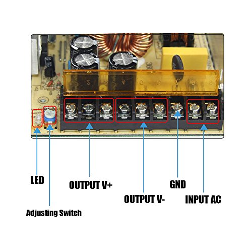 eTopxizu 12v 30a Dc Universal Regulated Switching Power Supply 360w for CCTV, Radio, Computer Project  by eTopxizu (Image #7)