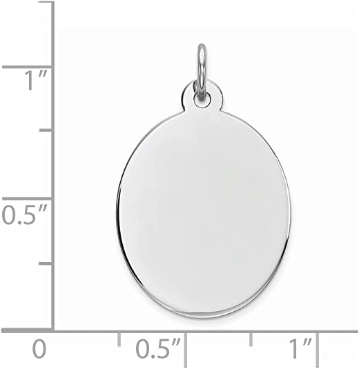 FB Jewels Solid 925 Sterling Silver Engraveable Polished Front Satin Back Plate