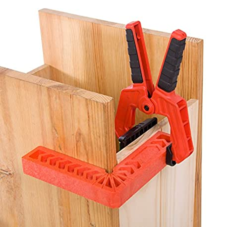 Boxes Cabinets or Drawers.Pack of 1PC Duratec Positioning Squares Clamping 90 Degree Angles for Picture Frames Woodworking Tool 4 Inch, Red