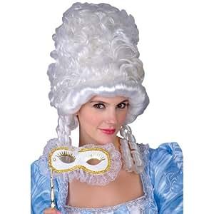 Marie Antoinette Masquerade White Fancy Dress Party Wig (peluca)