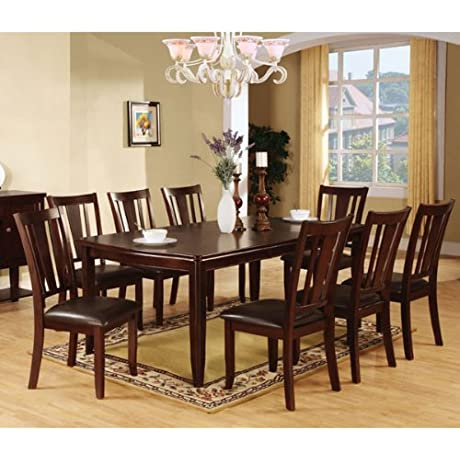 Edgewood Traditional Style Espresso Finish 7 Piece Dining Table Set