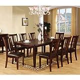 Cheap 247SHOPATHOME IDF-3336T-9PC-SET Dining-Room-Sets, 9-Piece, Brown