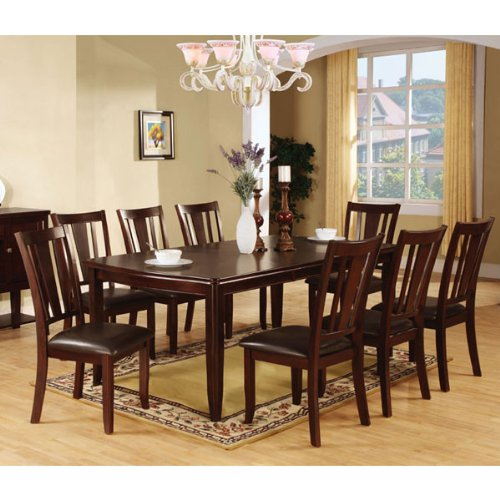 Edgewood Traditional Style Espresso Finish 9 Piece Dining Set
