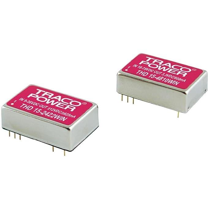 Convertisseur DC/DC pour circuits imprimés TracoPower THD 15-4823WIN 48 V/DC 15 V/DC, -15 V/DC 500 mA 15 W Nombre de sor