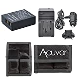 NP-W126 Replacement Battery + Car / Home Charger + Acuvar Battery Pouch For Fujifilm X-A1, X-M1, X-E1, X-E2, HS30EXR, HS33EXR, HS35EXR, HS50EXR, X-Pro1, XA1, XM1, XE1, XE2, HS-30EXR, HS-33EXR, HS-35EXR, HS-50EXR, XPro1 &More