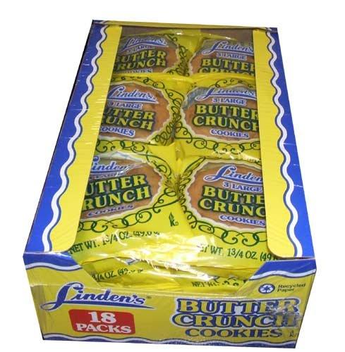 Linden's Butter Crunch Cookies 3 Cookies Per Pack (18 -1.75 Oz. Packs Per Box) (Butter Cookies)
