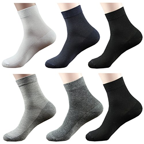 Comfort Low Quarter Sock - October Elf Men's Crew Socks Ankle Thin Socks Pack of 6 (Mix),One Size