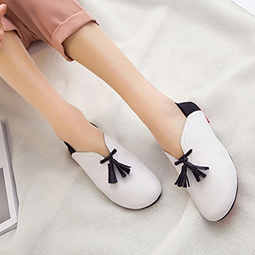 MatchLife Chaussure A Semelle Souple - Sandalias de Vestir de Otra Piel Mujer Weiß