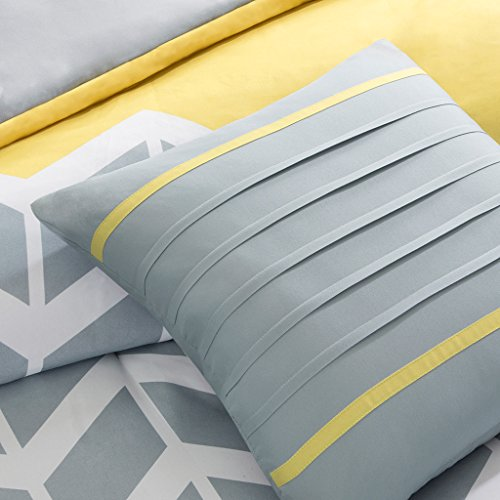 Intelligent pattern Nadia Comforter Set Twin Twin X big Yellow