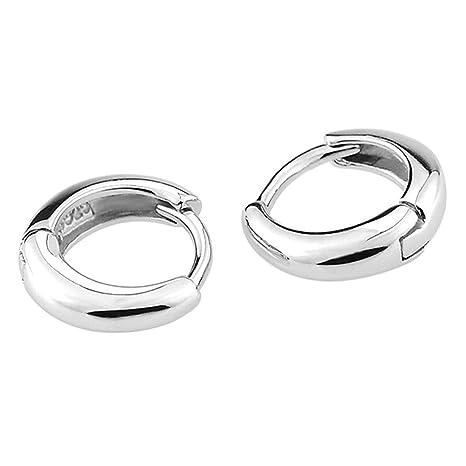 8ec087df41c9 JUNGEN Pendientes de joyería para Mujer y Hombre Pendientes de aro de Acero  Inoxidable Pendiente de Plata Pendientes de Aros pequeño Aretes de Moda ...