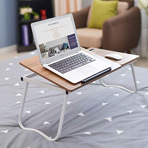 Cxmm Wood Folding Lazy Table, Non-Slip Lightweight Stable Sturdy Adjustable Bearing Capacity Large Laptop Stand Bed Sofa Dormitory Modern by Cxmm (Image #1)