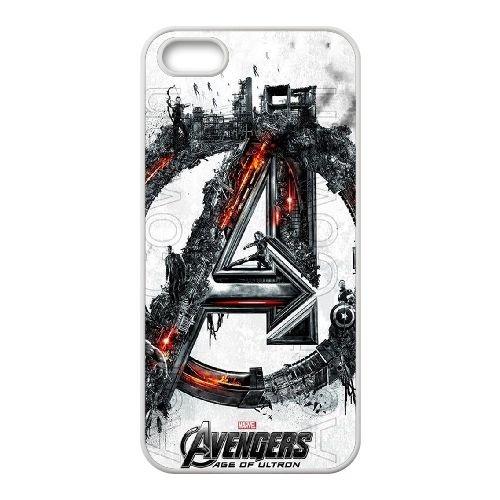 Avengers Age Of Ultron coque iPhone 4 4S Housse Blanc téléphone portable couverture de cas coque EBDOBCKCO12479
