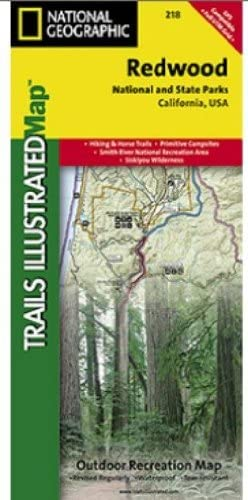 Amazon.com : Trails Illustrated Map Redwood National Park ...