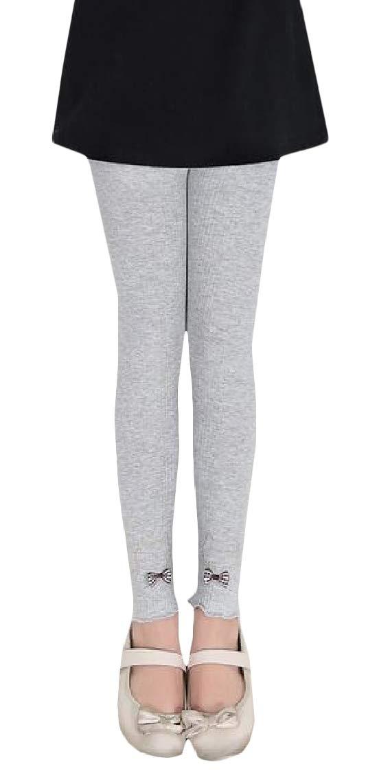 Etecredpow Girl Cartoon Cotton Embroidery Comfortably Length Cute Legging Gray 2T