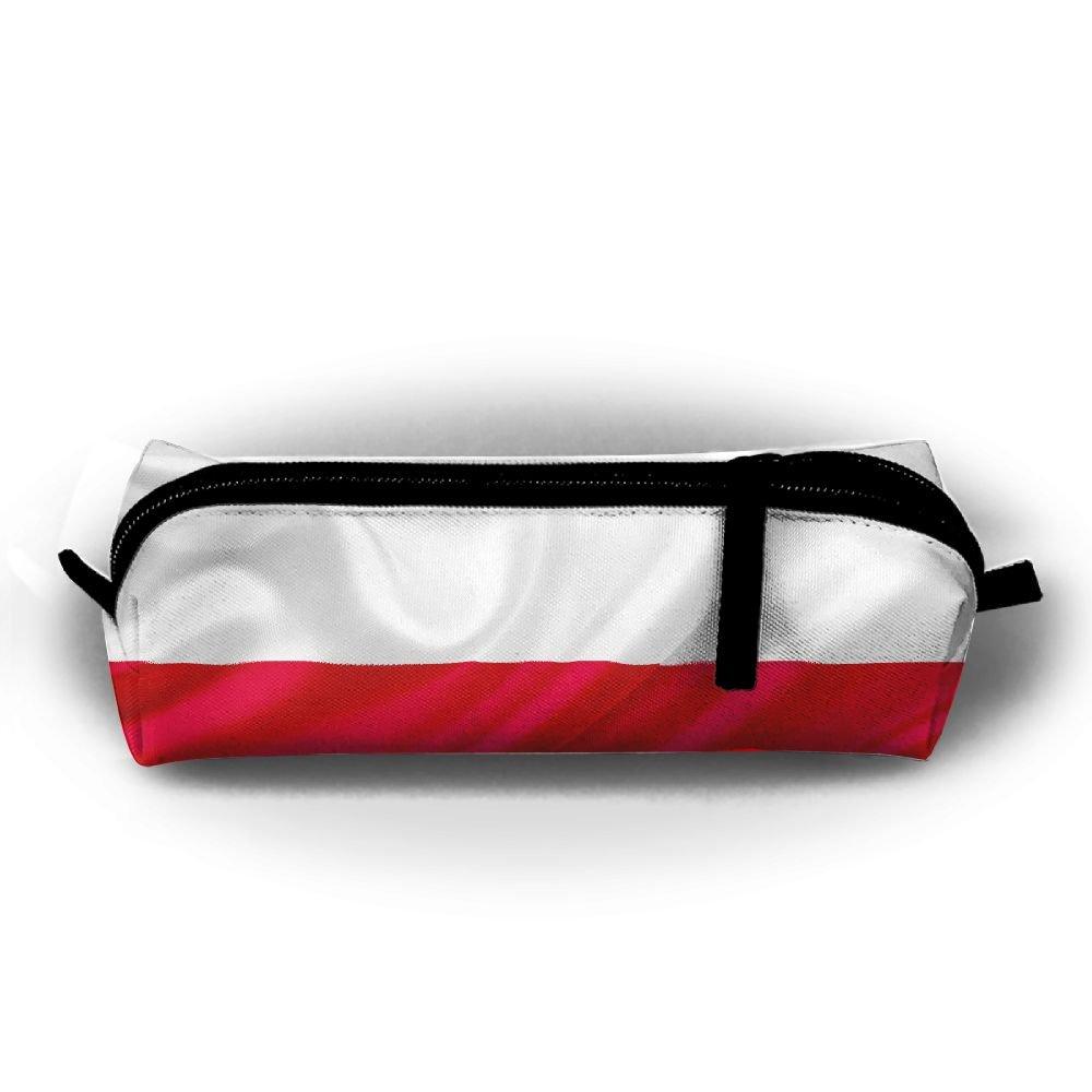 0cef944af0fe Satin Poland Flag In Sky Pen Pencil Stationery Bag Makeup Case ...