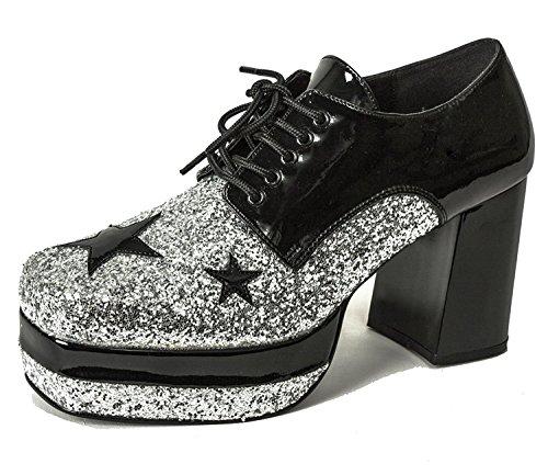 Glitter Cosplay Tony Manero Festival 1960s 1970s Style Groovy Men's Shoes