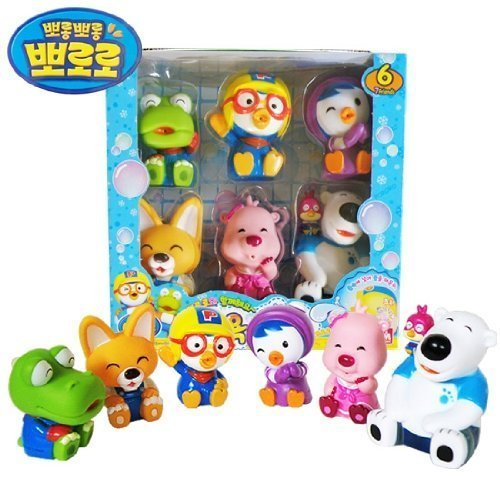 PORORO Character Bath Toy for Children - 6pcs