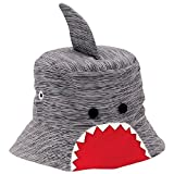 Mud Pie Baby Boy's Shark Bite Sun Hat (Infant/Toddler) Gray 2T-5T (Toddler)