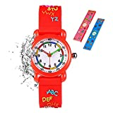 Toddler Kids Children Watch,3D Cute Cartoon Silicone Band Wristwatches Time Teacher Gifts Watches for Kids Girls Toddlers