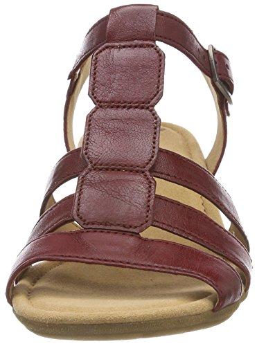 Fitting übergrößen dark 24 De red cómodo best zapatos Mujer 550 sandalias Cuña sandalias Del Gabor sandalias Cuña plana Verano Rojo gFARww