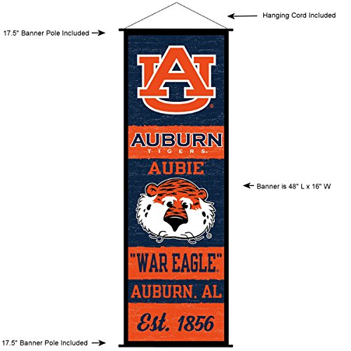 (Auburn Tigers Banner and Scroll Sign)