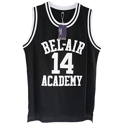 MBANK Smith #14 Bel Air Academy Black Basketball Jersey - Medium