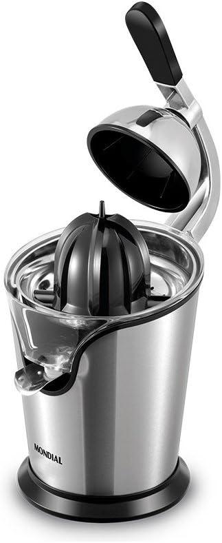 Mondial E25 Exprimidor con Palanca, 100 W, Plata y negro: Amazon ...