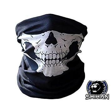 El casco HSkull Bandana cuello Cráneo máscara de esquí Paintball deporte diadema cara contraflujo