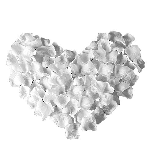 4000 Silk Roses (UGE 4000 PCS Artificial Silk Rose Petals Carpet Flowers Bulk for Wedding Favor Party Decoration (White))