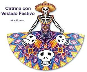 Amazon.com: Catrina Con Vestido Festiva: Home & Kitchen