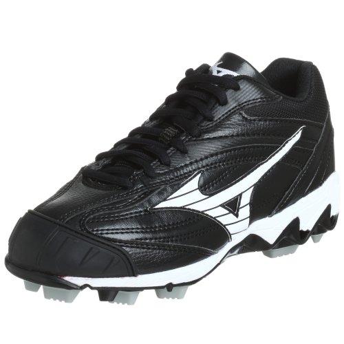 Mizuno Womens Finch 9 Spike Mid G3 Baseball Cleat Black/White