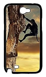 Samsung Note 2 Case Sport Climbing PC Custom Samsung Note 2 Case Cover Black