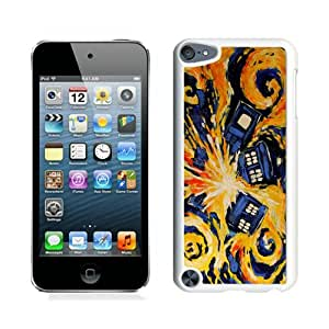 Case For iPod Touch 5,Doctor Who TARDIS Dark Night White iPod Touch 5 Case Cover