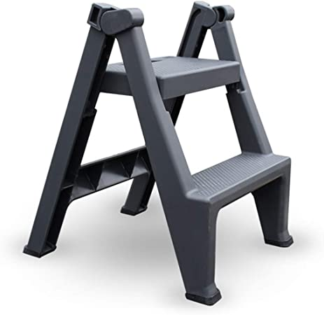 HYX escalera plegable mesa de trabajo cubierta de madera gruesa escalera multifunción escalera de mano de lavado de automóviles escalera plegable plataforma hogar escalera portátil heces silla de la e: Amazon.es: Hogar