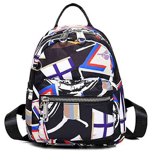 Print Girls Stlye 5 Cute and For Shoulder Small Backpck Three Handbag Nylon HADM Backping backpacks Women Waterproof 8pxZqdq