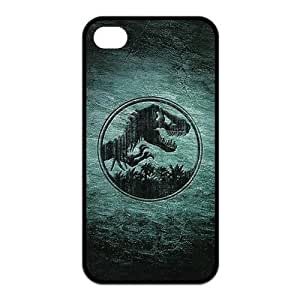 Unique Fashion Jurassic Park Customized Rubber Cases for iPhone 4 & 4s