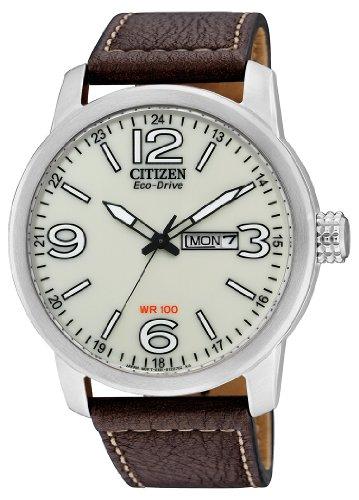 Citizen Herren-Armbanduhr Analog Quarz Leder BM8470-03AE