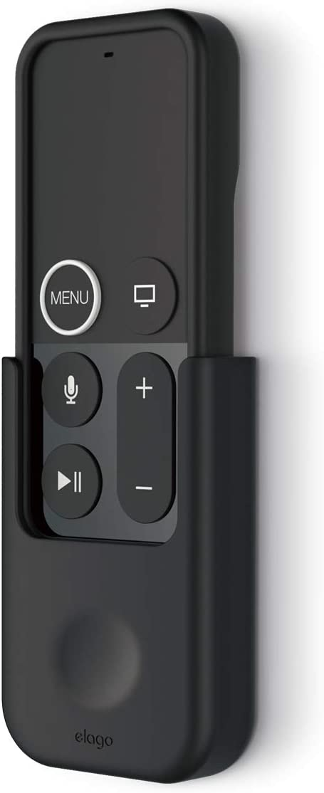 elago Apple TV Remote Holder Mount - [Gel Pad or Screw Options][Keeps It Secure][Cable Management] - Compatible with Apple TV Remote 4K / 4th Generation