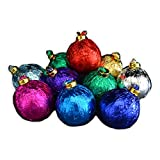 Chocolate Christmas Tree Ornaments - Colorful Foil-Wrapped Assortment (Case of 28)
