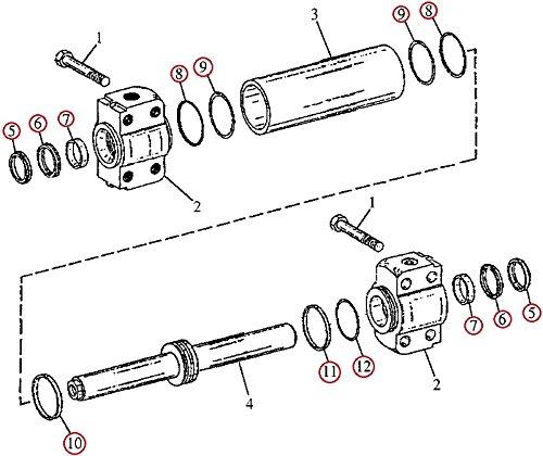 51a2 ACdEFL amazon com t153744 steering cylinder seal kit for john deere 482c