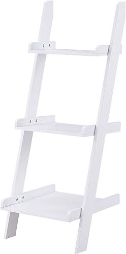 Safeplus Three-Layer Rack Wooden Shelf Home E1 MDF 3-Shelf Ladder Bookcase
