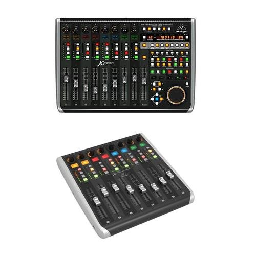 Behringer X-Touch Universal Control Surface with 9 Touch-Sensitive Motor Faders, LCD Scribble Strips and Ethernet/USB/MIDI Interface X-Touch Extender MIDI Controller