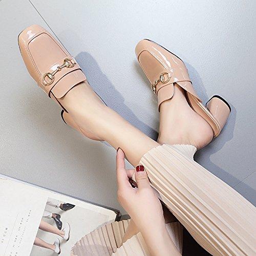 di con cool La Qingchunhuangtang e spessore Rosa Baotou sandali trascinare pantofole testa F0FqB