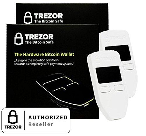 2 Pack Trezor Hardware wallet for Bitcoin BTC Litecoin LTC Namecoin Dogecoin Dash White