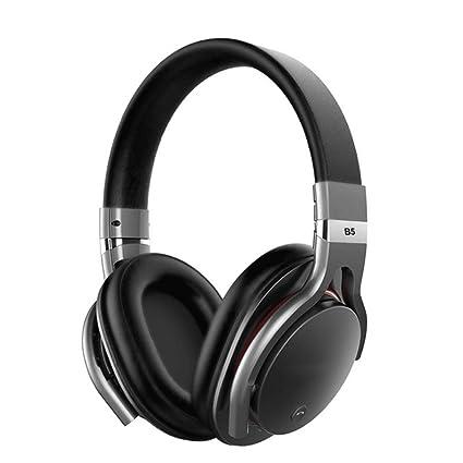 DYY Active Noise Reduction Auriculares Bluetooth Bilateral Stereo 90 ° Orejeras giratorias Micrófono Incorporado Head-
