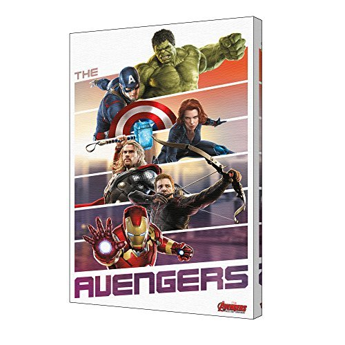 Pyramid America Avengers Team Up Stretched Canvas 24x36 inch